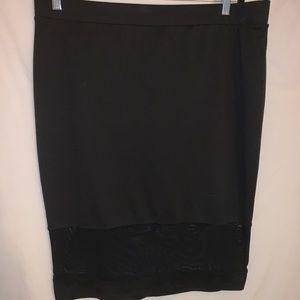 Black & Sheer Forever 21 Skirt